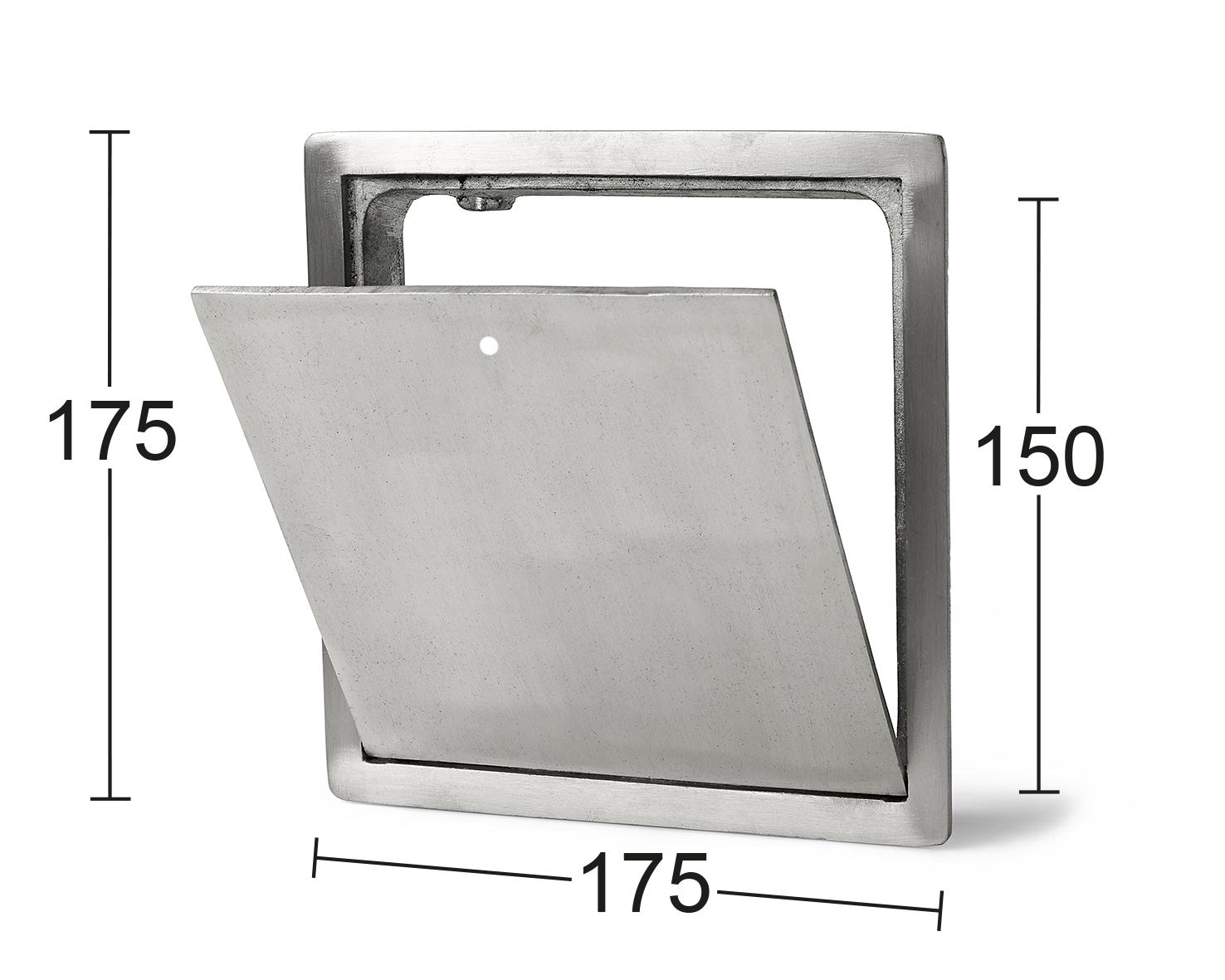 Klaffventil 102 aluminium