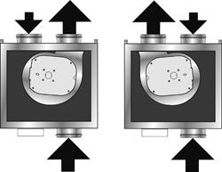Finns i höger eller vänster utförande för avluft