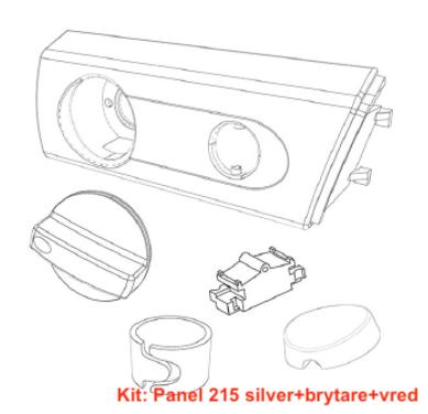 Panel Franke, Futurum 215 silver
